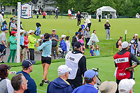 Danielle Kang (USA) watches her tee shot on 16 during Friday's second round of the 72nd U.S. Women's Open Championship, at Trump National Golf Club, Bedminster, New Jersey. 7/14/2017.<br /> Picture: Golffile | Ken Murray<br /> <br /> <br /> All photo usage must carry mandatory copyright credit (&copy; Golffile | Ken Murray)