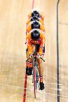 Engeland, London, 3 Augustus 2012.Olympische Spelen London.Baanwielrennen . Levi Heimans, Jenning Huizing, Wim Stroetinga en Tim Veldt in actie op de Olympische spelen in London