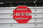 emergency phone number sticker