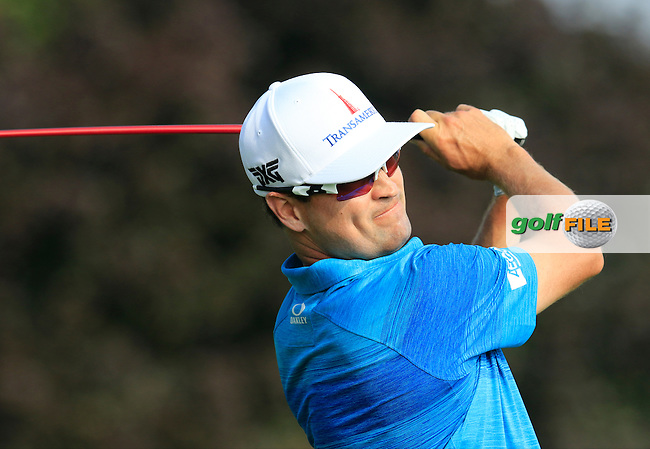 Zach Johnson (USA) tees off the 10th tee to start his match during Thursday's Round 1 of the 2016 U.S. Open Championship held at Oakmont Country Club, Oakmont, Pittsburgh, Pennsylvania, United States of America. 16th June 2016.<br /> Picture: Eoin Clarke | Golffile<br /> <br /> <br /> All photos usage must carry mandatory copyright credit (&copy; Golffile | Eoin Clarke)