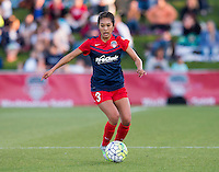 Boyds, MD - April 16, 2016: Washington Spirit defender Caprice Dydasco (3). The Washington Spirit defeated the Boston Breakers 1-0 during their National Women's Soccer League (NWSL) match at the Maryland SoccerPlex.