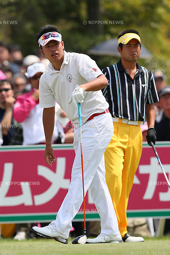 (L to R) .Hideki Matsuyama (JPN), .Yuta Ikeda (JPN), .APRIL 18, 2013 - Golf : .21st Japan Golf Tour Token Homemate Cup 2013 .First Round .at Token Tado Country Club Nagoya, Mie, Japan. .(Photo by YUTAKA/AFLO SPORT)