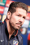 Atletico de Madrid's coach Diego Pablo Cholo Simeone in press conference before Champions League training session. April 4,2016.(ALTERPHOTOS/Acero)