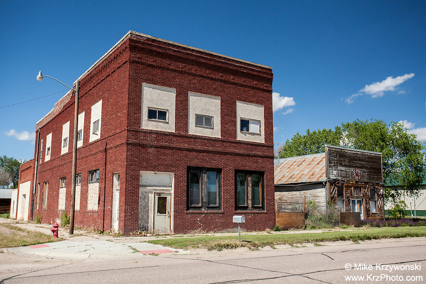 Old buildings in Broadwater, NE