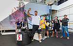Participants enjoy the Excavator Challenge activity of the Volvo Ocean Race stopover on June 26, 2015 in Gothenburg, Sweden. Photo by Victor Fraile / Power Sport Images