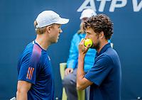 Den Bosch, Netherlands, 12 June, 2017, Tennis, Ricoh Open, Men's Doubles: Robin Haase (NED) / Dominic Inglot (GBR) (L)<br /> Photo: Henk Koster/tennisimages.com