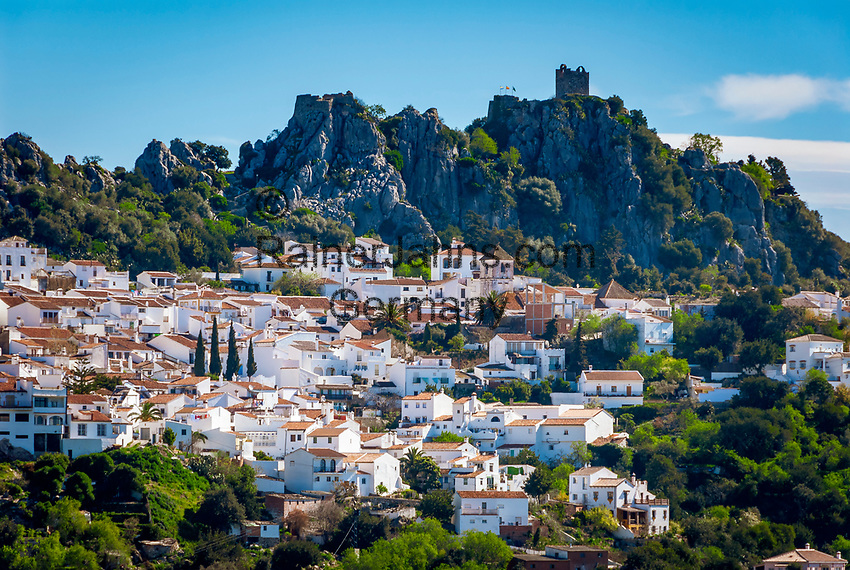 Spanien, Andalusien, Provinz Málaga, Costa del Sol, Gaucin: weisses Dorf am Fusse der Sierra Bermeja | Spain, Andalusia, Province Málaga, Costa del Sol, Gaucin: pueblo blanco at Sierra Bermeja mountains