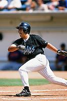 Alex Pelaez of the Rancho Cucamonga Quakes during a California League baseball game at The Epicenter circa 1999 in Rancho Cucamonga,CA. (Larry Goren/Four Seam Images)