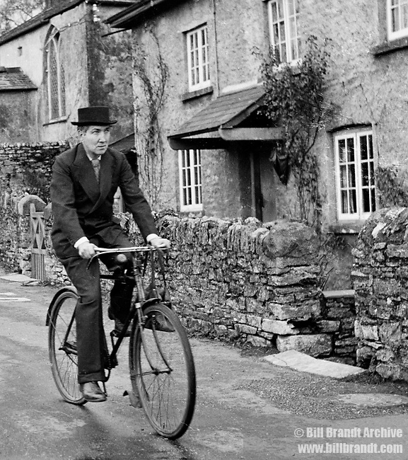 Robert Graves on bicycle, 1941