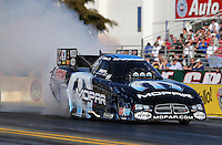 Feb. 14, 2013; Pomona, CA, USA; NHRA funny car driver Matt Hagan during qualifying for the Winternationals at Auto Club Raceway at Pomona.. Mandatory Credit: Mark J. Rebilas-