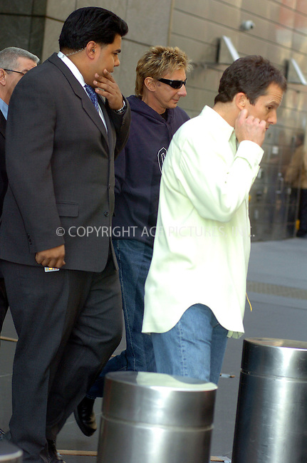 WWW.ACEPIXS.COM ** ** **EXCLUSIVE!!! FEE MUST BE NEGOTIATED BEFORE USE!!!***....NEW YORK, APRIL 19, 2005....Barry Manilow seen leaving his downtown hotel.....Please byline: Philip Vaughan -- ACE PICTURES... *** ***  ..Ace Pictures, Inc:  ..Craig Ashby (212) 243-8787..e-mail: picturedesk@acepixs.com..web: http://www.acepixs.com