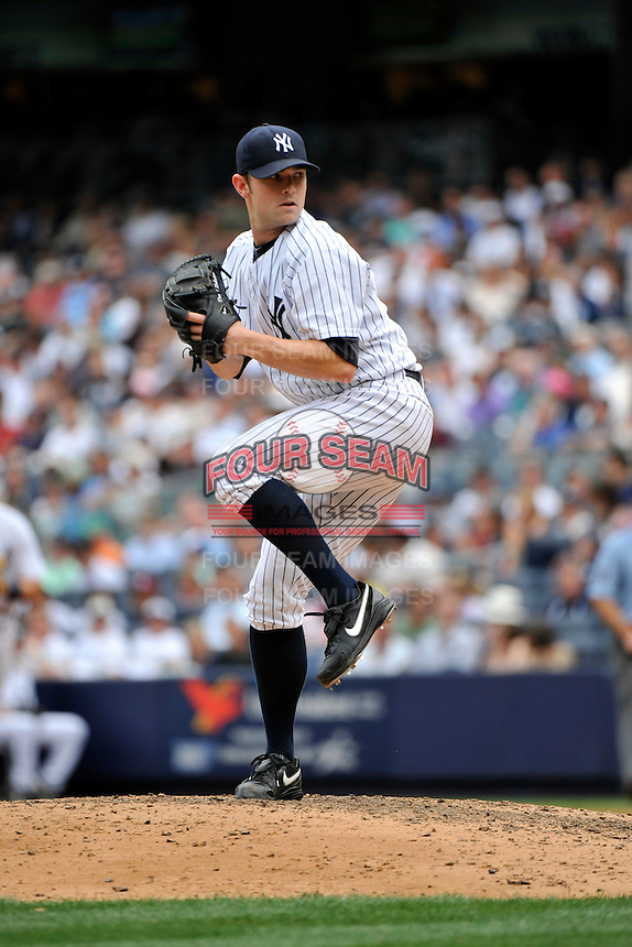 New York Yankees pitcher David Robertson #30 during a game against the Texas Rangers at Yankee Stadium on June 16, 2011 in Bronx, NY.  Yankees defeated Rangers 3-2.  Tomasso DeRosa/Four Seam Images