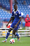 13 January 2015: Dominique Badji (Boston University) (SEN). The 2015 MLS Player Combine was held on the cricket oval at Central Broward Regional Park in Lauderhill, Florida.