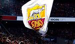 AS Roma's flag during La Liga match. Mar 07, 2020. (ALTERPHOTOS/Manu R.B.)
