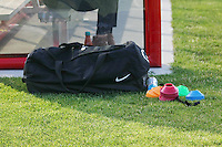Piscataway, NJ - Sunday June 19, 2016: equipment bag during a regular season National Women's Soccer League (NWSL) match between Sky Blue FC and Seattle Reign FC at Yurcak Field.