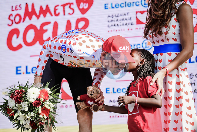 Tim Wellens (BEL) Lotto-Soudal retains the mountains Polka Dot Jersey at the end of Stage 16 of the 2019 Tour de France running 177km from Nimes to Nimes, France. 23rd July 2019.<br /> Picture: ASO/Pauline Ballet   Cyclefile<br /> All photos usage must carry mandatory copyright credit (© Cyclefile   ASO/Pauline Ballet)