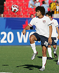 11 July 2007: USA's Andre Akpan (20), pregame. The Under-20 Men's National Team of the United States defeated Uruguay's Under-20 Men's National Team 2-1 after extra time in a  round of 16 match at the National Soccer Stadium (also known as BMO Field) in Toronto, Ontario, Canada during the FIFA U-20 World Cup Canada 2007 tournament.
