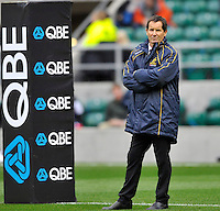 Twickenham, England. Australia head coach Robbie Deans at the QBE international match between England and Australia for the Cook Cup at Twickenham Stadium on November 10, 2012 in Twickenham, England