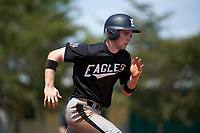 Edgewood Eagles Jonathan Roehler (9) during the second game of a doubleheader against the Lasell Lasers on March 14, 2016 at Terry Park in Fort Myers, Florida.  Edgewood defeated Lasell 10-2.  (Mike Janes/Four Seam Images)