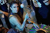"""SÃO PAULO, SP, 31.08.2018 - CARNAVAL-SP - Dani Bolina a madrinha de bateria da escola de samba da Zona Norte de São Paulo Unidos de Vila Maria que definiu seu samba para o Carnaval de 2019, com o tema """"Nas asas do grande pássaro, o voo da Vila Maria ao Império do Sol"""", na noite desta sexta, 31. (Foto: Nelson Gariba/Brazil Photo Press)"""