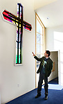 SOUTHBURY CT. 29 December 2017-122917SV02-Rev. Scott Nessel checks out the renovation and addition at St. James Church in Southbury Friday.<br /> Steven Valenti Republican-American