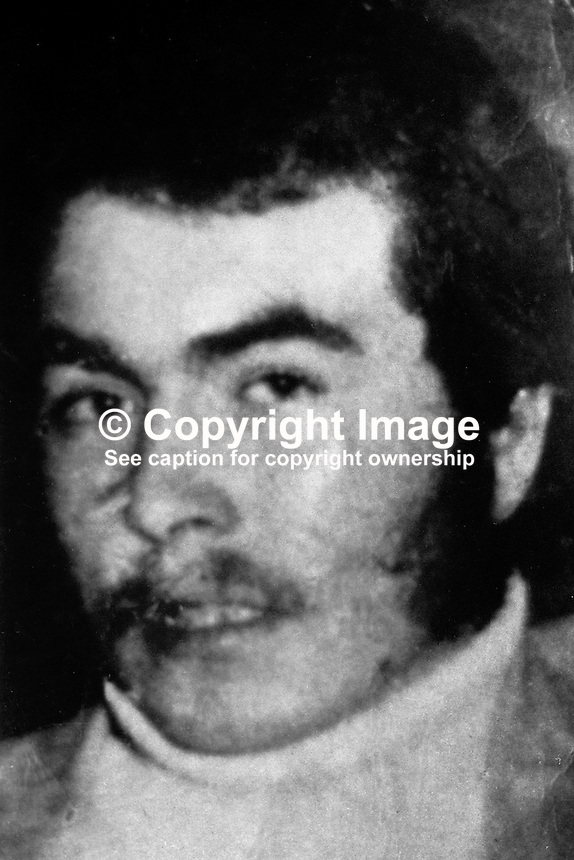 Joseph  Downey, 23 years,  an IRA volunteer, from Henrietta Street, Markets District, Belfast, N Ireland, who was shot during a gun battle involving the British Army on 22nd July 1972. Among the mourners at his funeral was his uncle, Crhistopher Downey, who was shot in October 1973 in mysterious circumstances in Manchester, England. 197310220647.<br />