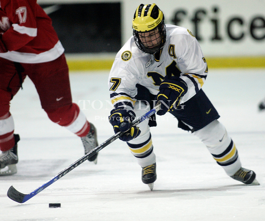 19 October 2006: Michigan forward T. J. Hensick during Michigan's 6-3 win in their CCHA season opener against Miami (OH) at Yost Ice Arena in Ann Arbor, MI.