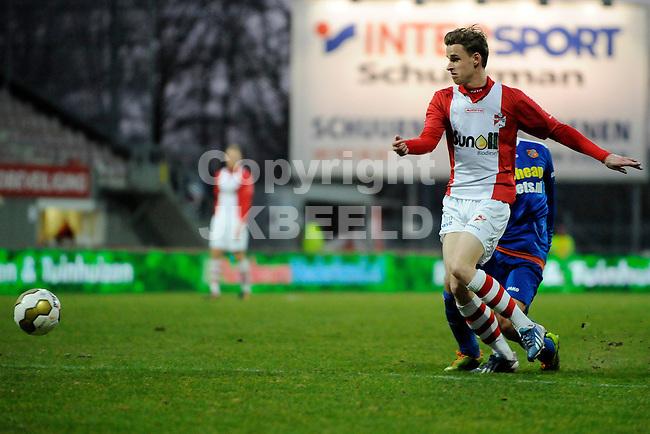 EMMEN - Voetbal, FC Emmen - FC Volendam, Jens Vesting, seizoen 2013-2014, 01-03-2014,   FC Emmen speler Frits Dantuma