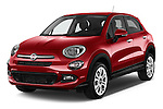 2016 Fiat 500X-City-Look Pop-Star 5 Door Suv Angular Front stock photos of front three quarter view