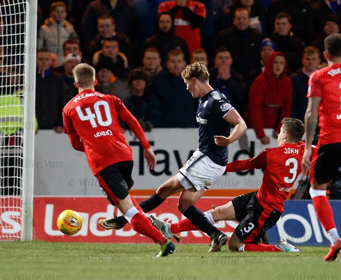 Mark O'Hara scores Dundee's second goal
