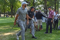 Dustin Johnson (USA) and Phil Mickelson (USA) make their way to the 17th tee during the preview of the World Golf Championships, Mexico, Club De Golf Chapultepec, Mexico City, Mexico. 2/28/2018.<br /> Picture: Golffile | Ken Murray<br /> <br /> <br /> All photo usage must carry mandatory copyright credit (&copy; Golffile | Ken Murray)