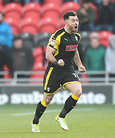 Rotherham United's Richie Towell celebrates his teams win<br /> <br /> Photographer Mick Walker/CameraSport<br /> <br /> The EFL Sky Bet League One - Doncaster Rovers v Rotherham United - Saturday 11th November 2017 - Keepmoat Stadium - Doncaster<br /> <br /> World Copyright &copy; 2017 CameraSport. All rights reserved. 43 Linden Ave. Countesthorpe. Leicester. England. LE8 5PG - Tel: +44 (0) 116 277 4147 - admin@camerasport.com - www.camerasport.com