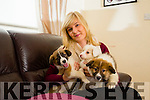 Stacey Wallace, Ballinorig, Tralee,  has  raised over €4,400 for Animal Help Net Kerry with the selling of Charity calenders . Pictured with  the Rescued puppies looking for adoption