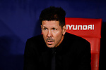Diego Pablo Simeone coach of Atletico de Madrid during La Liga match between Atletico de Madrid and Real Madrid at Wanda Metropolitano Stadium{ in Madrid, Spain. {iptcmonthname} 28, 2019. (ALTERPHOTOS/A. Perez Meca)