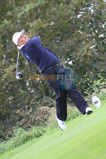 Day one of the Irish PGA championship at Seapoint Golf Club,.Damien McGrane playing ooff the first tee..Picture Fran Caffrey/www.golffile.ie.
