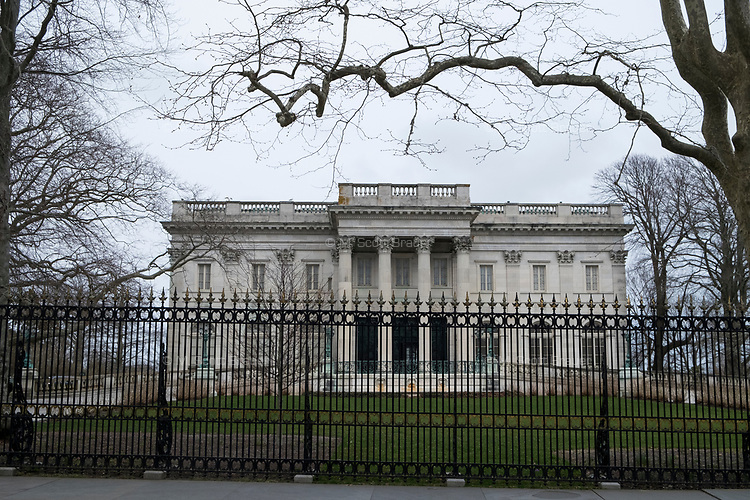 The Marble House is one of the Gilded Age mansions on Bellevue Avenue in Newport, Rhode Island, seen here on Wed., April 19, 2017.