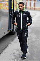 Wayne Routledge of Swansea City arrives prior to the game during the Sky Bet Championship match between Barnsley and Swansea City at Oakwell Stadium, Barnsley, England, UK. Saturday 19 October 2019