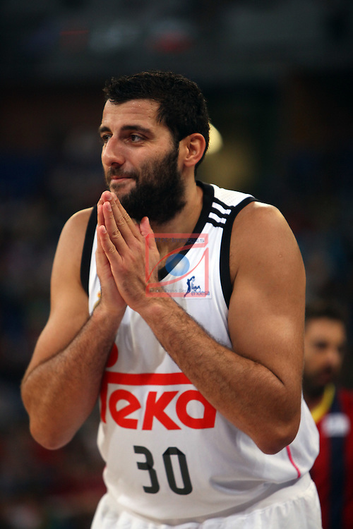 XI Supercopa ENDESA-Final.<br /> R. Madrid vs FC Barcelona: 99-78.<br /> Bourousis.