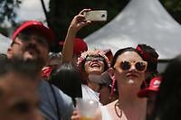 SÃO PAULO, SP, 15.02.2020: CARNAVAL-BLOCO-FREVO-MULHER-SP - Foliões participam do Bloco Frevo Mulher com a cantora Elba Ramalho, na avenida Pedro Álvares Cabral no Ibirapuera, zona sul de São Paulo, neste sábado, 15. (Foto: Fábio Vieira/FotoRua)
