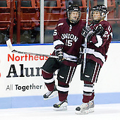 Callee Heywood (Union - 15), Jackie Koetteritz (Union - 24) - The Northeastern University Huskies defeated the Union College Dutchwomen 4-1 on Saturday, October 3, 2009, at Matthews Arena in Boston, Massachusetts.
