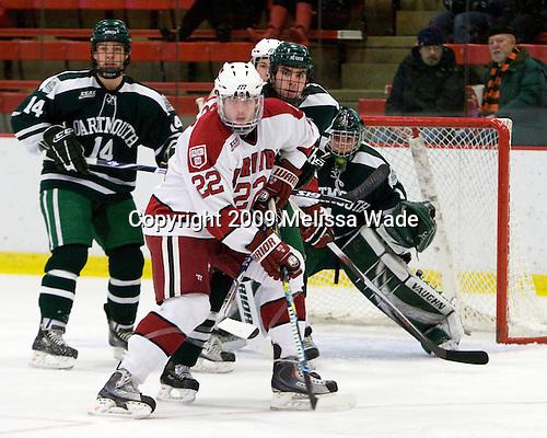 Doug Jones (Dartmouth - 14), David Valek (Harvard - 22), ?, Jody O'Neill (Dartmouth - 1) - The Harvard University Crimson defeated the Dartmouth College Big Green 4-1 (EN) on Monday, January 18, 2010, at Bright Hockey Center in Cambridge, Massachusetts.