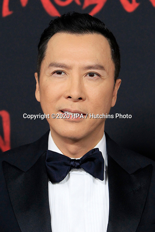 """LOS ANGELES - MAR 9:  Donnie Yen at the """"Mulan"""" Premiere at the Dolby Theater on March 9, 2020 in Los Angeles, CA"""