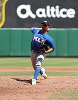 Johangel Ramirez participates in the MLB International Showcase at Estadio Quisqeya on February 22-23, 2017 in Santo Domingo, Dominican Republic.
