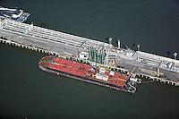 aerial photograph Chevron Richmond Long Wharf, California