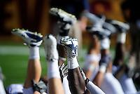 Nov. 28, 2009; Tempe, AZ, USA; Arizona Wildcats players stretch prior to the game against the Arizona State Sun Devils at Sun Devil Stadium. Arizona defeated Arizona State 20-17. Mandatory Credit: Mark J. Rebilas-