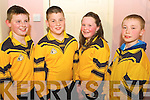 Representing Asdee GAA club in the quiz section of the Sco?r Na Bpaisti North Kerry Finals which took place at The Sports Complex Mountcoal on Saturday night were l/r Darragh Keane, Owen Tydings, Catherine Carmody and Niall O'Dowd........................................................................................................................................................ ............