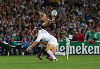 Rugby World Cup Auckland England v Scotland  Pool B 01/10/2011.Johny Wilkinson (England) tackles Mac Evans (Scotland).Photo  Frey Fotosports International/AMN Images