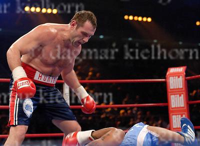 "WBC #1 ranked heavyweight Vladimir ""The Hunter"" Virchis (24-1, 20 KOs) scored a fifth round KO over Robert Hawkins (22-10, 7 KOs) at the Boerderlandhalle,Magdeburg,Germany,17-11-07"