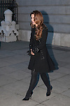 Bullfighter Enrique Pacheco´s wife Paloma Cuevas (C) leaves the state funeral for former Spanish prime minister Adolfo Suarez at the Almudena Cathedral in Madrid, Spain. March 31, 2014. (ALTERPHOTOS/Victor Blanco)