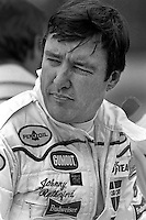 INDIANAPOLIS, IN - MAY 24: Johnny Rutherford waits to drive his Chaparral 2K/Cosworth during practice for the Indianapolis 500 USAC/CART Indy Car race at the Indianapolis Motor Speedway in Indianapolis, Indiana, on May 24, 1981.